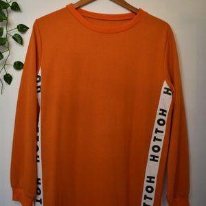 ASOS Orange Midi T-Shirt Dress